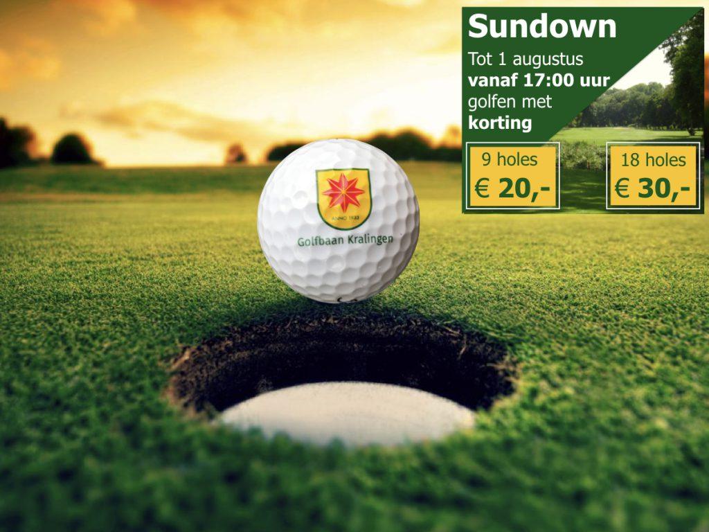 Sundown actie Golfbaan Kralingen