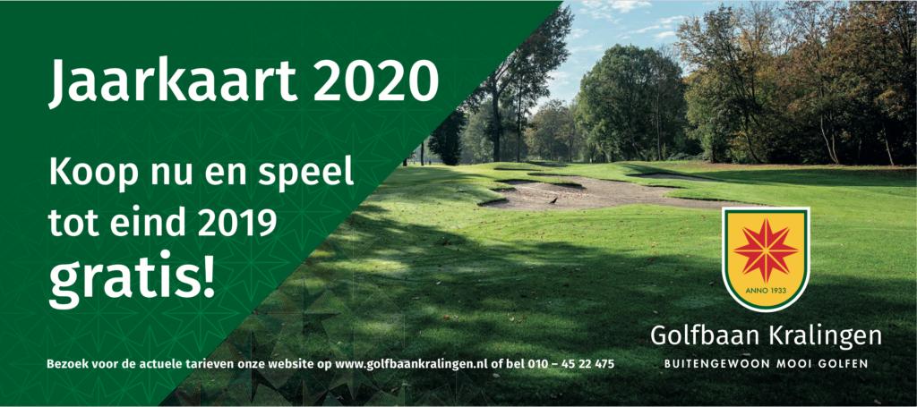 Aanbieding jaarkaart Golfbaan Kralingen